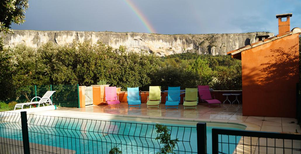 La piscine Li poulidetto chambre d'hotes Luberon